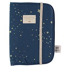 Achat Protège-carnet santé Protège Carnet de Santé Poema - Gold Stella & Night Blue