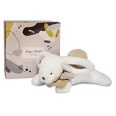 Achat Doudou Pantin Pompon Happy Wild - Naturel