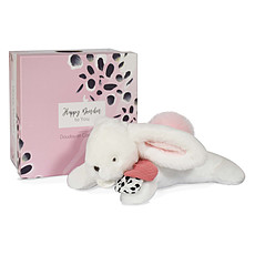 Achat Doudou Pantin Pompon Happy Blush - Rose