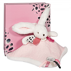 Achat Doudou Doudou Pompon Happy Blush - Rose