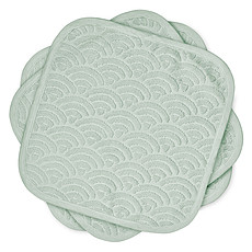 Achat Gant de toilette Lot de 3 Lingettes - Dusty Green