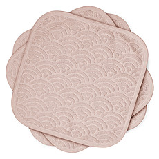 Achat Gant de toilette Lot de 3 Lingettes - Dusty Rose