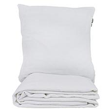 Achat Linge de lit Parure en Coton Bio Froissé Blanc - 140 x 200 cm