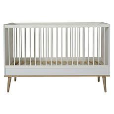 Achat Lit bébé Lit Bébé Evolutif Flow White & Oak - 70 x 140 cm