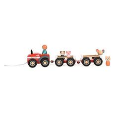 Achat Mes premiers jouets Tracteur de la Ferme et ses 2 Remorques