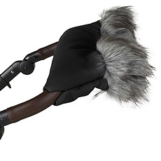 Achat Accessoires poussette Gant avec Fourrure - Black