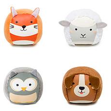 Achat Mes premiers jouets Set de 4 Balles Doudou Les Dooballs - Ferme