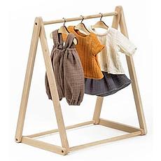 Achat Mes premiers jouets Porte-vêtements pour Poupée en Bois - Naturel