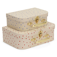 Achat Bagagerie enfant Lot de 2 Valises - Ocean Blue Dot & Raspberry Red Dot
