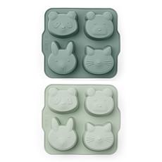 Achat Vaisselle & Couvert Lot de 2 Mini Moules à Gâteau Mariam - Mint Mix