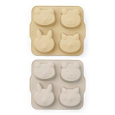 Achat Vaisselle & Couvert Lot de 2 Mini Moules à Gâteau Mariam - Wheat Yellow & Sandy Mix
