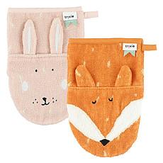 Achat Gant de toilette Lot de 2 Gants de Toilette - Mrs. Rabbit & Mr. Fox