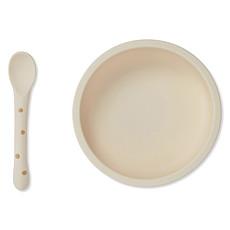 Achat Coffret repas Set Repas en Silicone Antidérapant 2 Pièces - Terracotta Dot