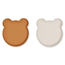 Achat Vaisselle & Couvert Lot de 2 Assiettes Olivia Marty - Mr Bear Golden Caramel Sandy Mix