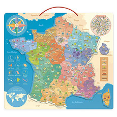 Achat Mes premiers jouets Carte de France Educative Magnétique