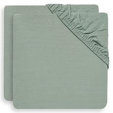 Achat Linge de lit Lot de 2 Draps Housse Ash Green - 60 x 120 cm