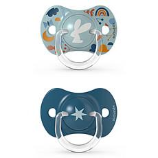 Achat Sucette Lot de 2 Sucettes Symétriques SX Pro Into the Forest Bleu - 18 Mois +