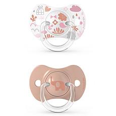 Achat Sucette Lot de 2 Sucettes Symétriques SX Pro Memories Rose Corail - 6/18 Mois
