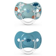 Achat Sucette Lot de 2 Sucettes Symétriques SX Pro Into the Forest Bleu - 6/18 Mois