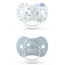 Achat Sucette Lot de 2 Sucettes Symétriques SX Pro Memories Bleu - 18 Mois +