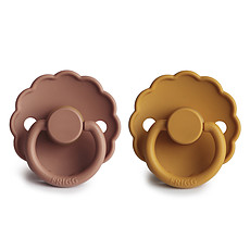 Achat Succion Lot de 2 Tétines Daisy Caoutchouc - Honey Gold & Rose Gold