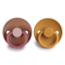 Achat Succion Lot de 2 Tétines Color Blocks Caoutchouc - Flamingo & Honey Gold