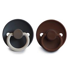 Achat Succion Lot de 2 Tétines Color Blocks Silicone - Deep Sea & Milk Chocolate