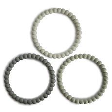 Achat Dentition Lot de 3 Bracelets de Dentition - Green Tea Cool Grey & Sea Salt