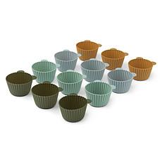 Achat Vaisselle & Couvert Lot de 12 Moules à Cupcakes Jerry - Green Multi Mix