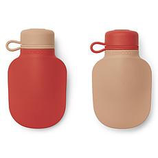 Achat Tasse & Verre Lot de 2 Gourdes de Poche Silvia Apple Red Tuscany Rose Mix - 170 ml