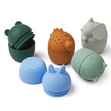 Achat Mes premiers jouets Lot de 5 Jouets de Bain Gaby - Blue Multi Mix