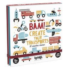 Achat Livre & Carte Lot de 16 Tampons en Bois Bam ! - Transports