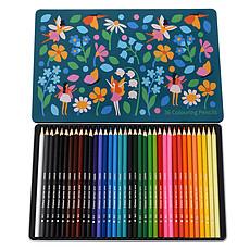 Achat Livre & Carte Boîte de 36 Crayons de Couleurs Fairies In The Garden