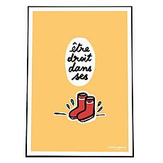 Achat Affiche & poster Affiche Être Droit dans ses Bottes