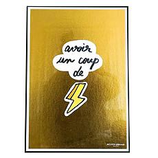 Achat Affiche & poster Affiche Avoir un Coup de Foudre - Gold