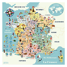 Achat Mes premiers jouets Carte de France Magnétique Ingela P. Arrhenius