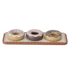 Achat Mes premiers jouets Lot de 3 Donuts en Bois et Plateau