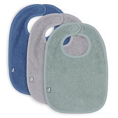 Achat Bavoir Lot de 3 Bavoirs - Ash Green Storm Grey & Jeans Blue