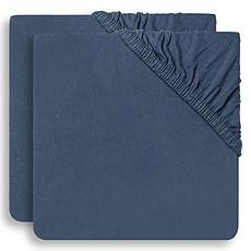 Achat Linge de lit Lot de 2 Draps Housse Jeans Blue - 60 x 120 cm