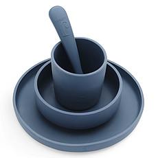 Achat Coffret repas Set de Vaisselle 4 Pièces - Jeans Blue