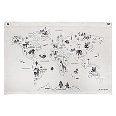 Achat Affiche & poster Carte du Monde en Coton