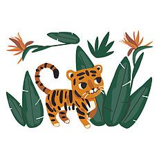 Achat Sticker Sticker Géant Jungle Night - Jungle et Tigre