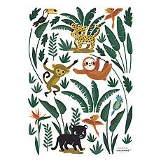 Achat Sticker Planche de Stickers Jungle Night - Animaux de la Jungle