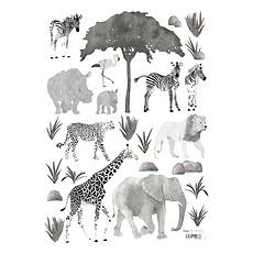 Achat Sticker Planche de Stickers Serengeti - Animaux Sauvages