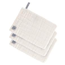 Achat Gant de toilette Lot de 3 Gants de Toilette en Mousseline - Blanc Cassé