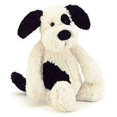 Achat Peluche Bashful Black and Cream Puppy Medium