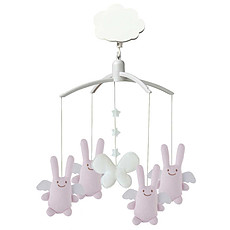 Achat Mobile Mobile Musical Ange Lapin - Rose