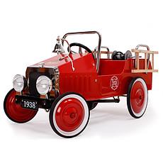 Achat Trotteur & Porteur Voiture à Pédales Camion de Pompiers Rouge