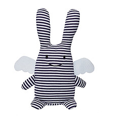 Achat Peluche Peluche Ange Lapin Musical Marinière