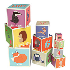 """Achat Mes premiers jouets Cubes en carton Alphabet & Nombres """"Rusty and Friends"""""""